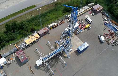 Mobile workover rig for deep geothermal energy GWR 100